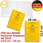 Impfpass Hülle Schutzhülle Impfpasshülle für NEUEN Impfausweis 1x <br/> ⭐⭐⭐⭐⭐ ✅ Qualität - Made in Germany - sofort lieferbar ✅