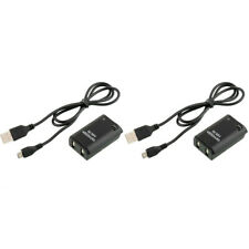 2pcs/set 4800mAh Akku + 2x  Battery Pack Cable for Xbox 360 Wireless Controller