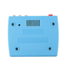 BLUE RF Modulator TV Switch Audio Video RCA Ant Input Type Coax Output Converter