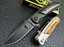 "Browning 8.2"" Tactical Folding Pocket Knife 440C Steel 58Hrc full blade"
