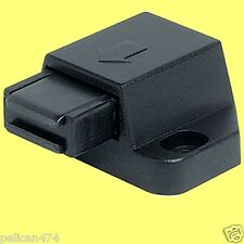 1x Magnetic Pressure catch Black Plate push to open touch door drawers cupboards
