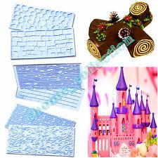 Pebble & Stone Brick Lace FLower Impression Mat Cake Emboss Fondant Icing Sugar