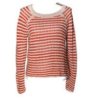 Ann Taylor Loft Womens Sweater Crew Raglan Long Sleeve Striped Top Size Medium