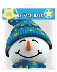 Snowman Christmas Single 2D Card Party Fun Face Mask - Great for Xmas Parties