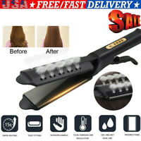 Hair Straightener Ceramic Tourmaline Ionic Flat Iron Professional Glider USA SI