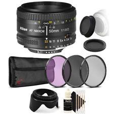Nikon AF FX NIKKOR 50mm f/1.8D Lens for Nikon D80 D90 D7000 and Accessory Bundle
