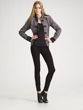 Juicy Couture 'Band Jacket' in Driftwood Gray - Sz M - Gorgeous Military Style