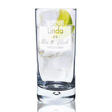 PERSONALISED Gin and Tonic Tall Gin O'Clock Glass - G & T Birthday Gift UK