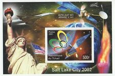 SALT LAKE CITY 2002 OLYMPICS ARIANE SATELITE STATUE OF LIBERTY MNH STAMP SHEET