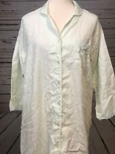 Miss Elaine Nightie Nightgown Long Gown Green Small Sleep Shirt Lace Embroidered