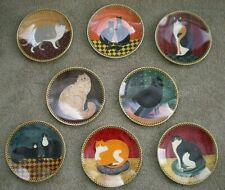 Lenox Warren Kimble Cat Collection Plates Set of 8 Signed & Numbered Folk Art