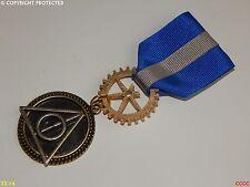 DONI DELLA MORTE SPILLA DISTINTIVO Medaglia Spilla Drape Harry Potter Corvonero HOGWARTS