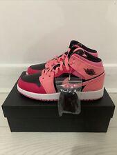 Nike Air Jordan 1 Mid 'Coral Chalk Rush Pink' GS | Pink/Black | UK 5 BNIB