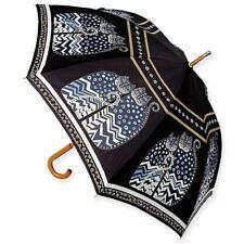 """Laurel Burch Stick Umbrella Polka Dot Cats 42"""" Canopy"""