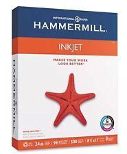 """Hammermill - Inkjet Paper, 24lb, 96 Bright,8-1/2 x 11"""" 500 Sheets  NO SALES TAX """