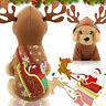 Pet Puppy Dog Christmas Deer Clothes Reindeer Winter Warm Coat Apparel Hoodie