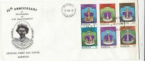 Barbuda 1978 Coronation Elizabeth II FDC Unaddressed VGC