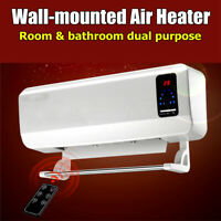 2000W Electric Timing Wall Mounted Heater Space Heating Air Conditioner + Remote