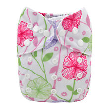 New ALVA Reusable Washable One Size Baby Cloth Diaper Nappy for Girls +1Insert