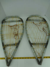 "Homemade? Handmade? Metal Snowshoes Snow Shoes 25-3/4"" L x 12-1/4"" W Sku C Gs"