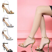 Ladies Summer High Heels Stiletto Buckle Strap Party Sandals Peep Toe Shoes Size