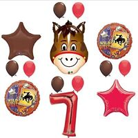 Wild West Cowboy Western 7th Birthday Party Supplies and Balloon Decorations