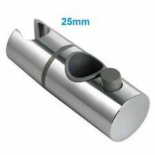 Replacement  ABS Chrome Shower Rail Head Slider Holder Adjustable Bracket