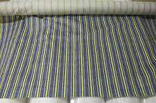 azul y amarillo rayas / de rayas 100% Algodón Tela 147cm Ancho