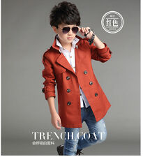 KINDER Trenchcoat Wind-mantel Zweireihig Deluxe 100% CottonSize 3-16 YRS