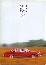 Mercedes Benz W123 Diesel Saloon 200D 240D 300D 1978-81 Original Brochure WZ1857