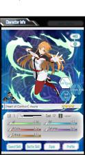 [Heart Of Confront]Asuna 4* Sword Art Online Memory Defrag FRESH ACCOUNT NA