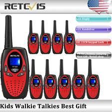 10Xretevis Rt628 Kids Walkie Talkie Uhf 22Ch Vox 2Way Radio children Gift Red