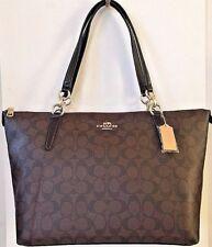 NWT Coach 58318 AVA Tote Signature PVC Handbag Brown / Black