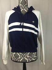 Vintage Hang Ten Full Zip Sweatshirt Women's Crop Jacket Large Hoodie Hooded