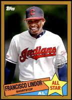 Francisco Lindor 2020 Topps 1985 35th Anniversary All-Stars 5x7 Gold #85AS-18 /1