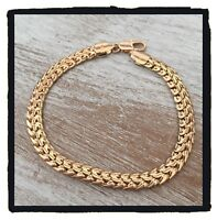Bracelet Maille Palmier Plaqué Or 18 carats NEUF Bijoux Femme