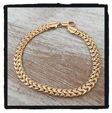 Bracelet Maille Palmier Plaqué Or 18 carats Garanti  NEUF  Bijoux Femme