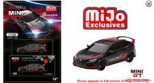 TSM Honda Civic Type R (FK8) 2017 (Matte Black) Customer Racing Study 1/64
