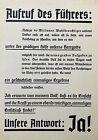 "ORIGINAL - PRE-WW2 1938 GERMAN ELECTION and ANNEXATION BROADSIDE "" APRIL10,1938"