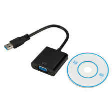 HD 1080P USB3.0 To VGA External Graphic Card Video Adapter Converter For Win8/10