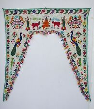 Vintage Door Valance Window Decor Wall Hanging Hand Embroidered 42 x 48 inch X23