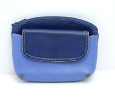 Tula Coin Cards Wallet Purse Pouch with Zip Closure Blue