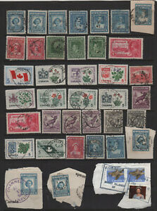 Canada Newfoundland Town Cancel Lot - Most Different Towns or Stamps