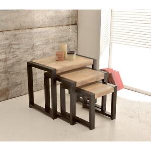 Harbour Indian Reclaimed Wood Nest of Tables (HAR-NEST) SRP £199