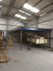 Mezzanine floor 75sqm (or larger)fully installed.