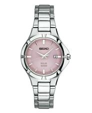 Seiko Essentials SUT315 Women's Stainless Steel Solar Watch with Pink Dial