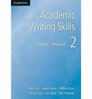 Academic Writing Skills 2 Teacher's Manual, , Very Good condition, Book