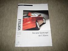 Das neue Mercedes C-Klasse Sportcoupe CL 203 Prospekt Brochure von 9/2000