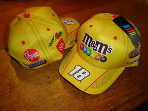 Kyle Busch 2021 M&M'S RACING #18 CFS Adj.UNIFORM Hat NEW W/tags IN STOCK