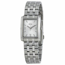 Bulova Rectangle Silver Band Wristwatches